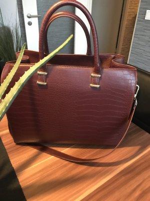 H&M Tasche Bordeaux mit Gold Details