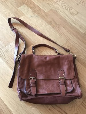 H&M College Bag brown-cognac-coloured
