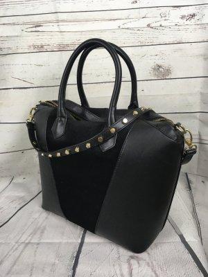 H&M Tasche mit Samt guter Zustand Schwarz