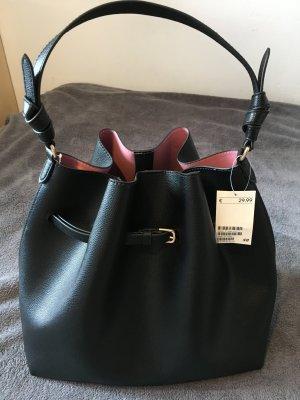 H&M Tasche schwarz Hobo Tasche