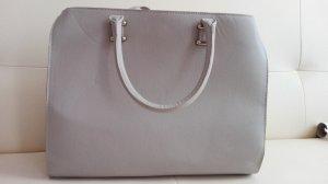 H&M Tasche Shopper beige/grau Neu