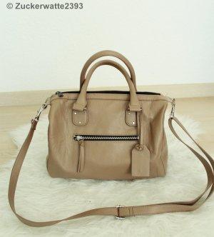 H&M Tasche Taupe Bowling Bag Grau Braun