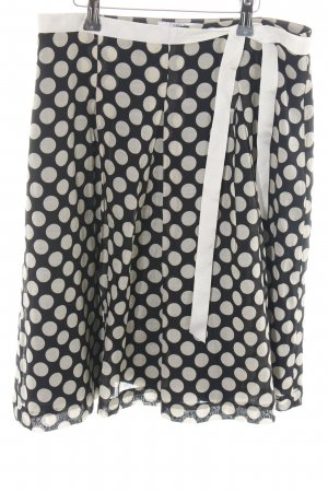 H&M Circle Skirt nude-black spot pattern casual look