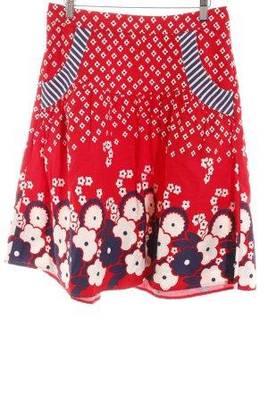 H&M Falda circular estampado floral Estilo años 50
