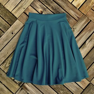 H&M Circle Skirt petrol
