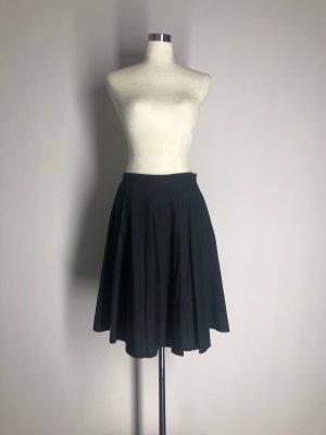 H&M Falda circular negro Algodón