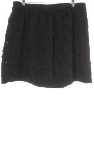 H&M Falda circular negro elegante