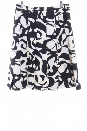 H&M Circle Skirt black-white abstract pattern casual look