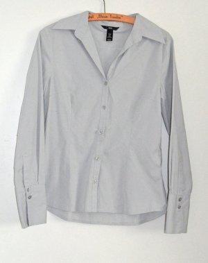 H&M tolle Business Hemd Bluse Gr. 38 (auch für 36), hellgrau