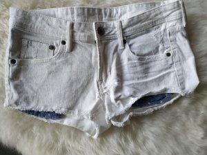 H&M Pantaloncino di jeans bianco-blu