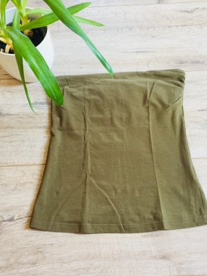 H&M Off the shoulder top khaki-olijfgroen