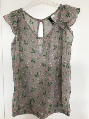 H&M Blusa grigio chiaro-rosa