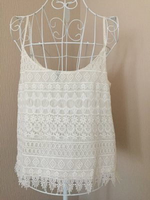 H&M Divided Spaghetti Strap Top white