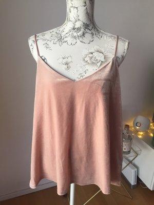 H&M Top aus Samt rosa Gr 42/XL