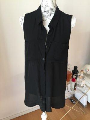H&M Top Bluse ärmellos Gr 42 schwarz