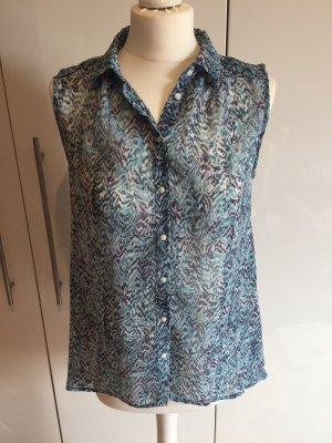 H&M Top Bluse Größe 36 blau türkis