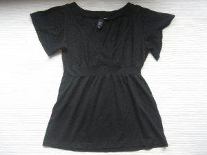 H&M top bluse schwarz neuwertig lurex xs 34