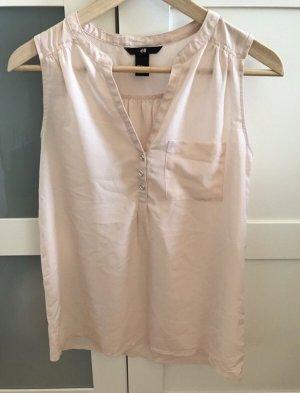 H&M Top blusenartig beige rosé XS