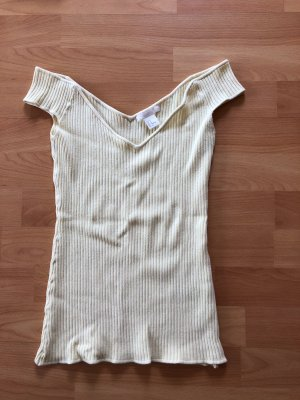 H&M Knitted Top pale yellow
