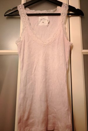 H&M Top Gr.M NEU!!!rosa nude Ripptop Shabby Boho Chic Romatischrar sold out Elfe