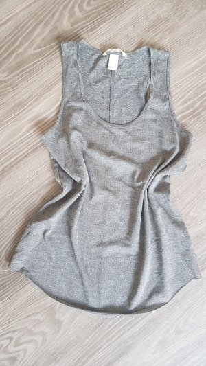 H&M Top Grau Gr S