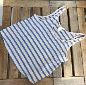 H&M Top hellblau weiß streifen gestreift 34 XS