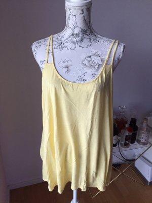 H&M Top de tirantes finos amarillo pálido-amarillo claro