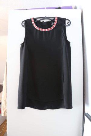 H&M Top largo negro-rojo