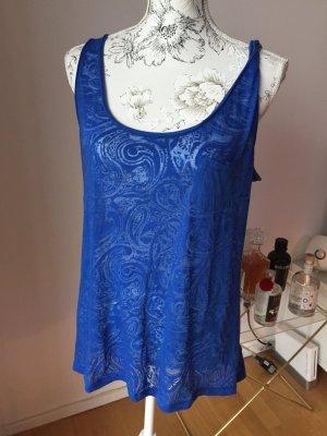 H&M Top mit Muster blau Gr L