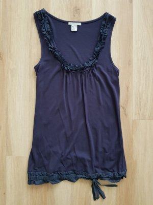 H&M Top mit Rüschen dunkelblau / navy / blau Gr. XS *** sehr guter Zustand ***