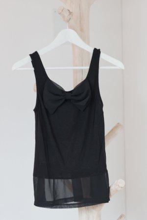 H & M Top mit Schleife schwarz Größe 36