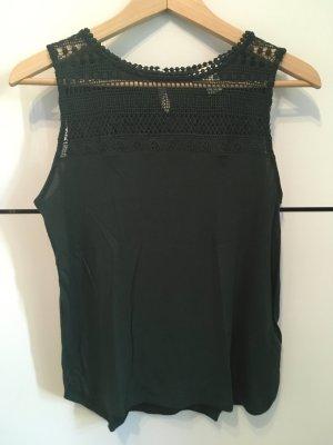 H&M Top mit Spitze Gr. S grün