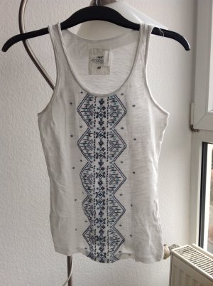H&M Top mit Stickereien Ethno