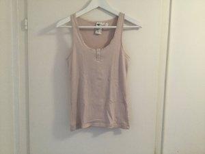 H&M Top rosa Ripp Shirt gerippt S / 36 Neu sexy Knöpfe