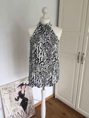 H&M Top schwarz weiß 38