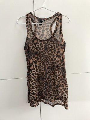 H&M Top Tanktop Leo Leoparden Muster Gr. 34 / XS - nur einmal getragen 100% neuwertig!