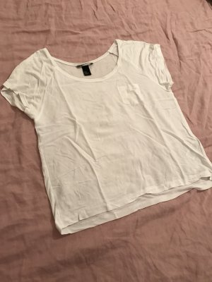 H&M Top weiß viskose 38 Basic T-Shirt