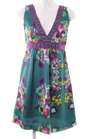 H&M Pinafore dress flower pattern beach look