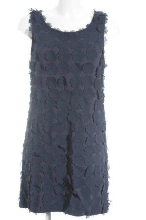 H&M Trägerkleid dunkelblau Blumenmuster Elegant