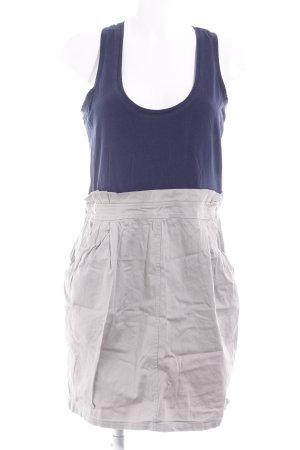 H&M Trägerkleid dunkelblau-hellgrau Casual-Look