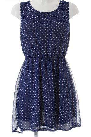 H&M Trägerkleid dunkelblau-weiß Punktemuster Marine-Look