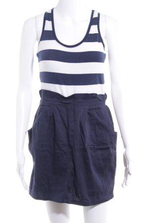 H&M Trägerkleid dunkelblau-weiß Streifenmuster Casual-Look