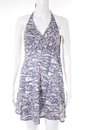 H&M Trägerkleid nude-stahlblau abstraktes Muster Casual-Look