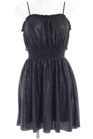 H&M Trägerkleid schwarz Glitzer-Optik
