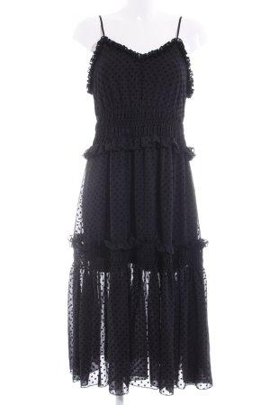H&M Trägerkleid schwarz Punktemuster extravaganter Stil