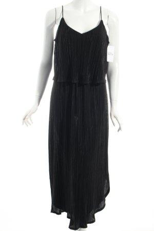H&M Trägerkleid schwarz Schimmer-Optik