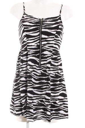 H&M Trägerkleid schwarz-weiß Animalmuster Animal-Look