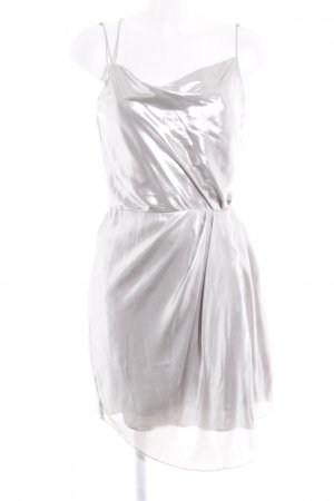 H&M Pinafore dress silver-colored metallic look