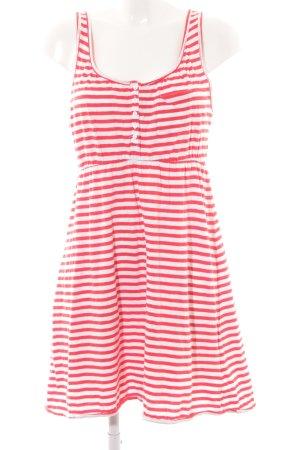 H&M Trägerkleid weiß-rot Streifenmuster