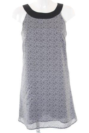 H&M Trägerkleid weiß-schwarz Allover-Druck Elegant
